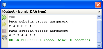 Output Merge sort