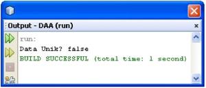 Output jika data tidak unik