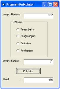 program kalkulator